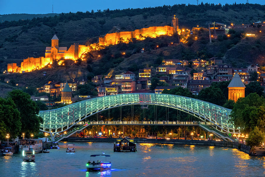 View of the old town of Tbilisi  by Fabrizio Troiani
