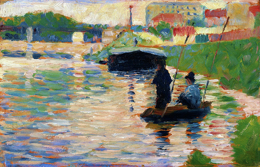 Georges Seurat Painting - View Of The Seine - Digital Remastered Edition by Georges Seurat