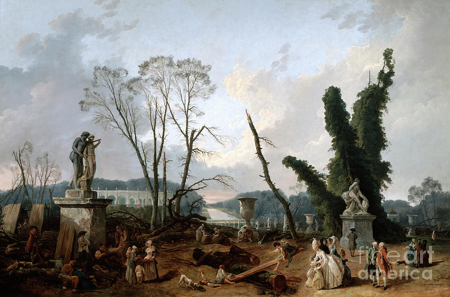 View Of The Tapis Vert In Versailles Drawing by Print Collector