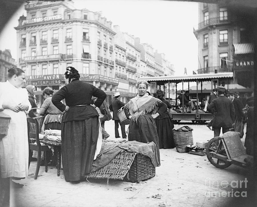 View Of Vegetable Merchant Photograph by Bettmann