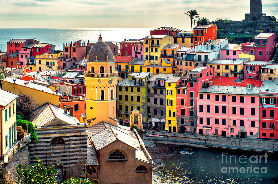 Harbor Photograph - View Of Vernazza. Vernazza Is A Town by Alex Tihonovs