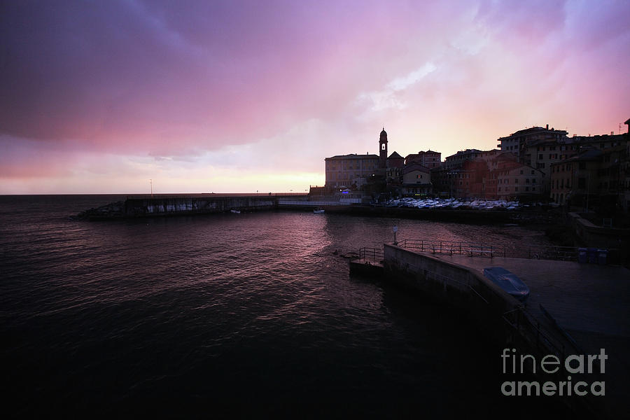 View On Nervi Genoa At Sunset Photograph by Stanislaw Pytel