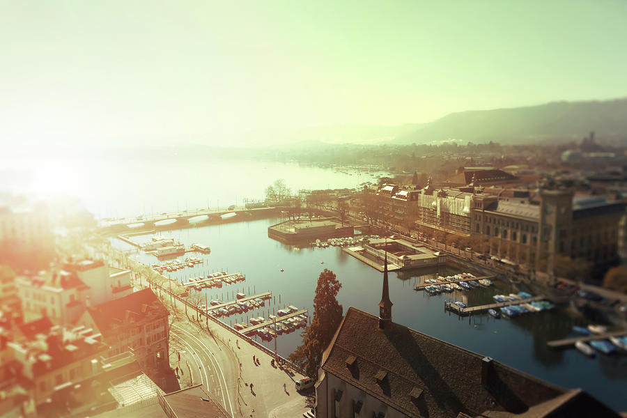 View On Zurich Photograph by Querbeet