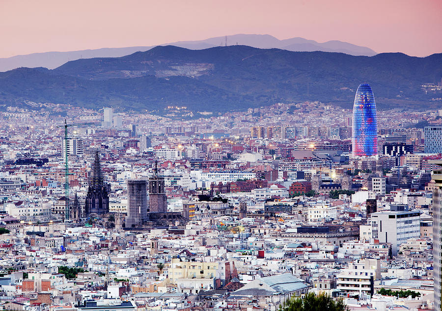 View Over Barcelona Photograph by Allan Baxter