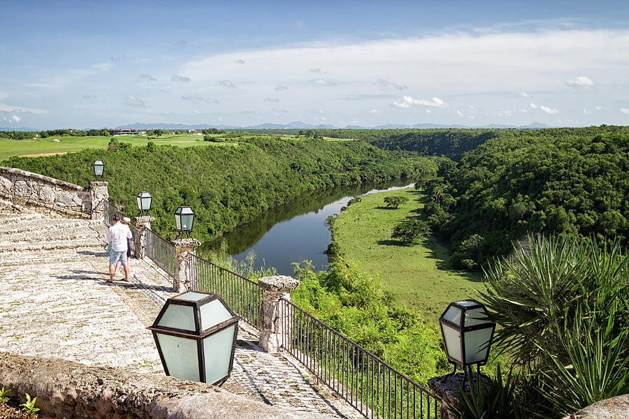 View over Chavon River  by Shirley Mitchell