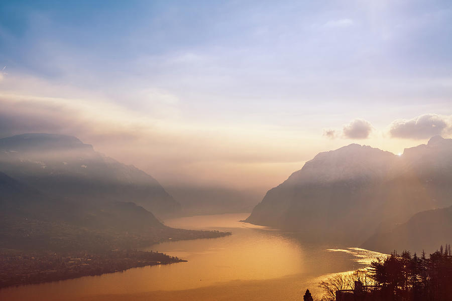View Over Como Lake Photograph by Deimagine