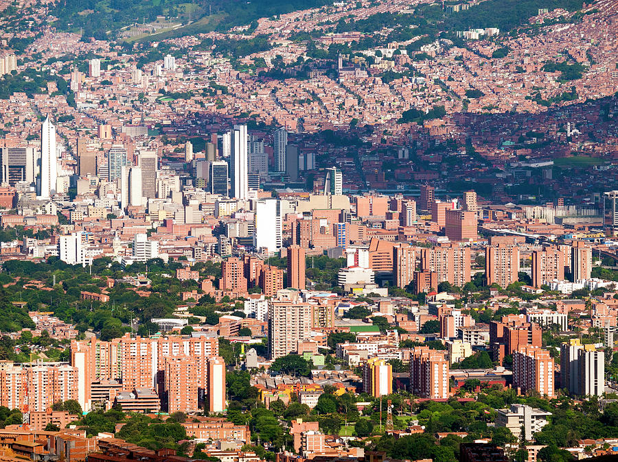 View Over Medellin Capital Of Antioquia Photograph by Holgs