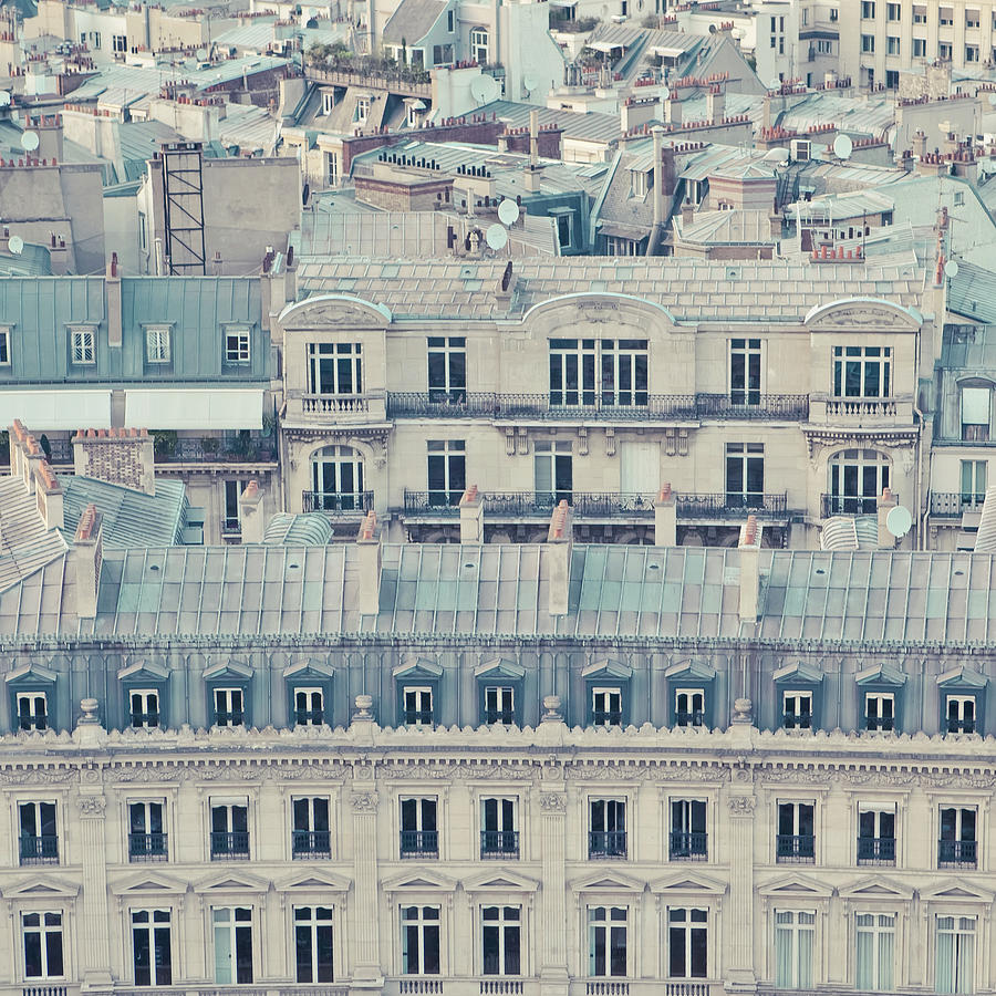 View Over Rooftops Of Paris Photograph by Cindy Prins