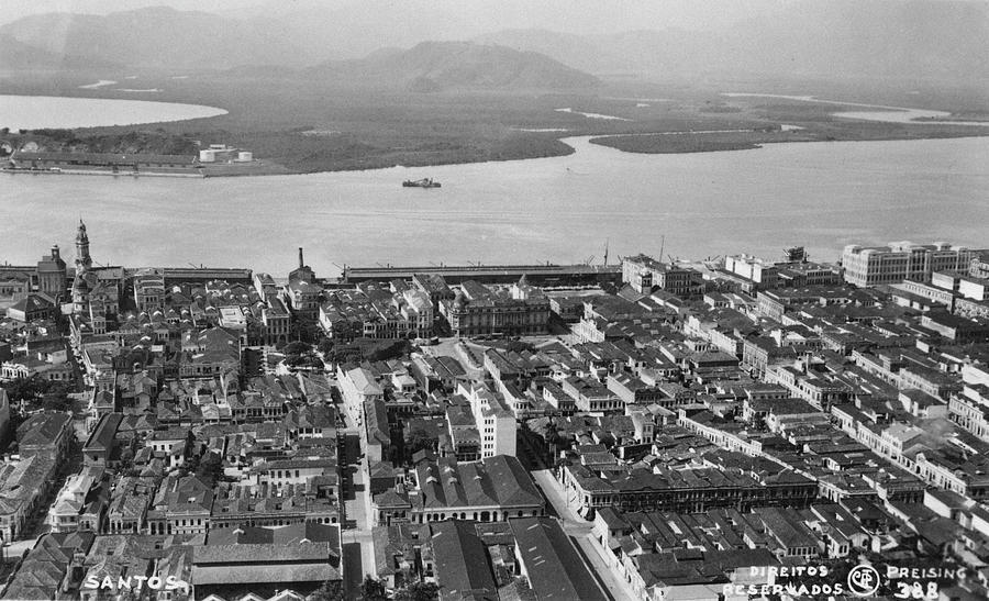 View Over Santos Photograph by Hulton Archive