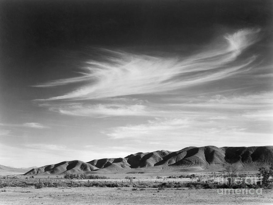 View south from Manzanar to Alabama Hills, California, 1943 by Ansel Adams