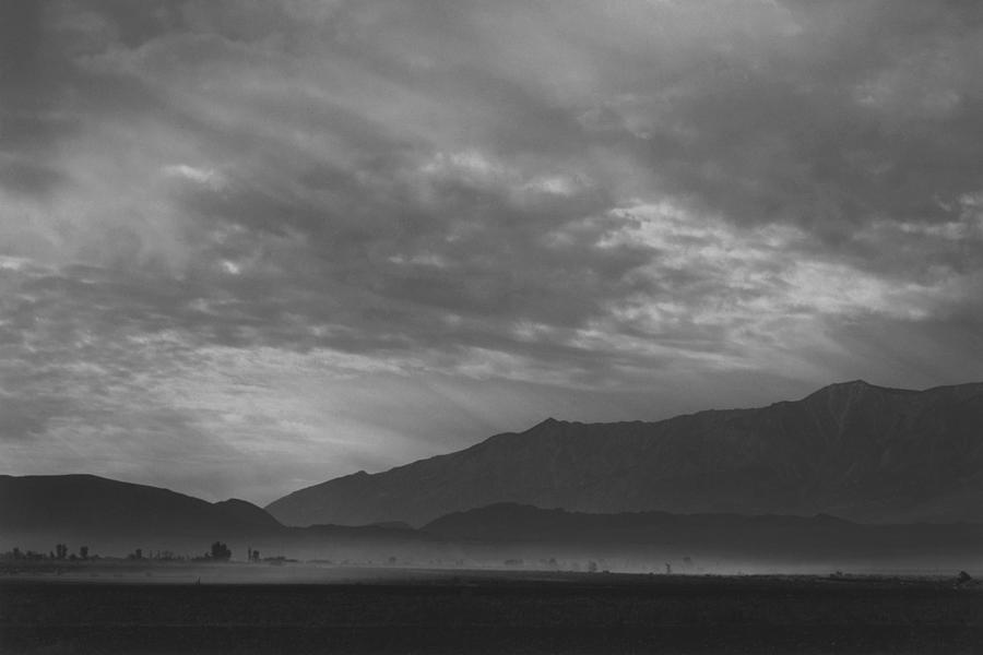 View Sw Over Manzanar, Dust Storm Photograph by Buyenlarge
