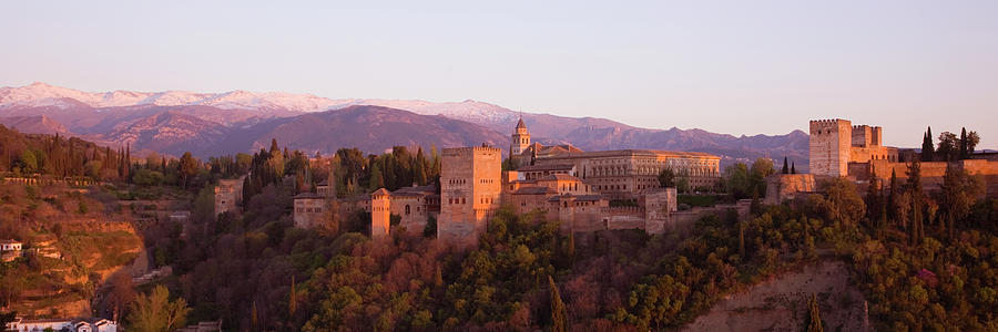 View To The Alhambra At Sunset Photograph by David C Tomlinson