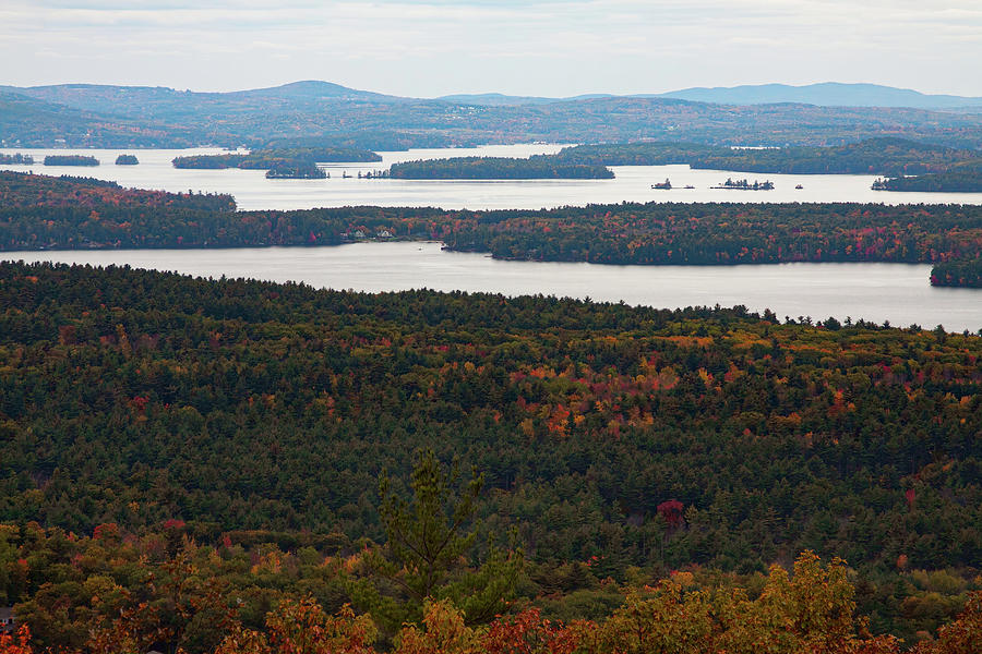 Views of  Moultonborough Bay in fall colors by Jeff Folger