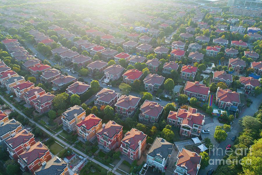 Villa Buildings At Shanghai Pudong,china Photograph by Yaorusheng