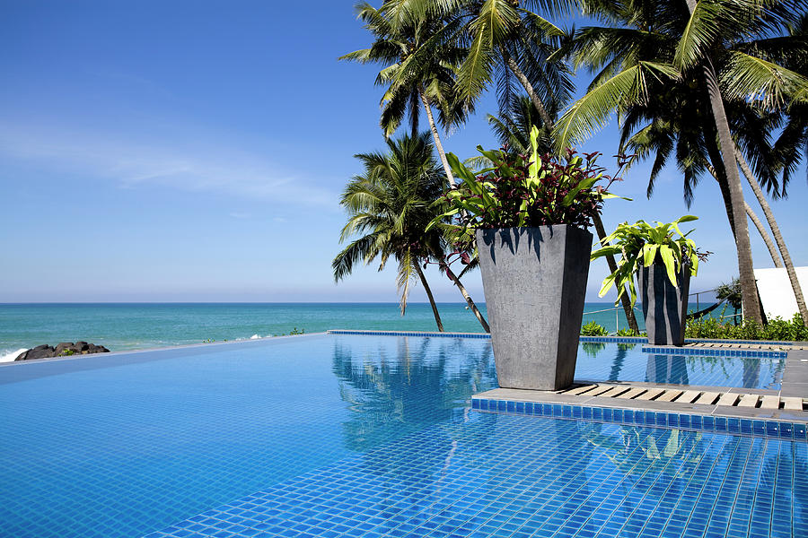 Villa Hotel Swimming Pool Sri Lanka Photograph by Laughingmango