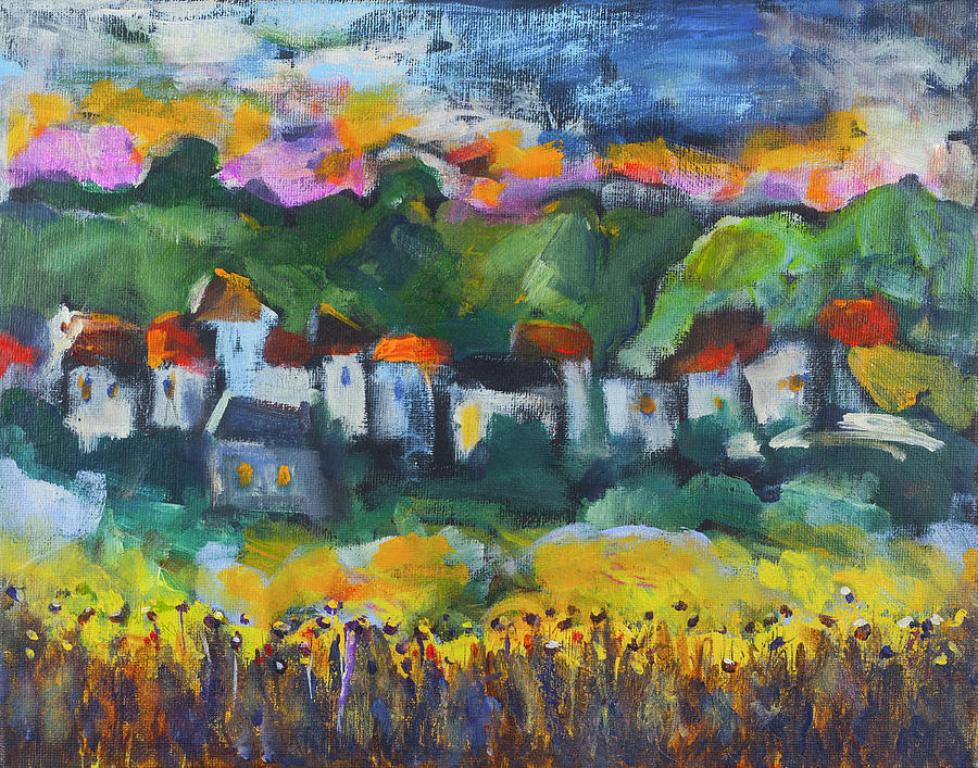 Village at Sunset 2 by Maxim Komissarchik