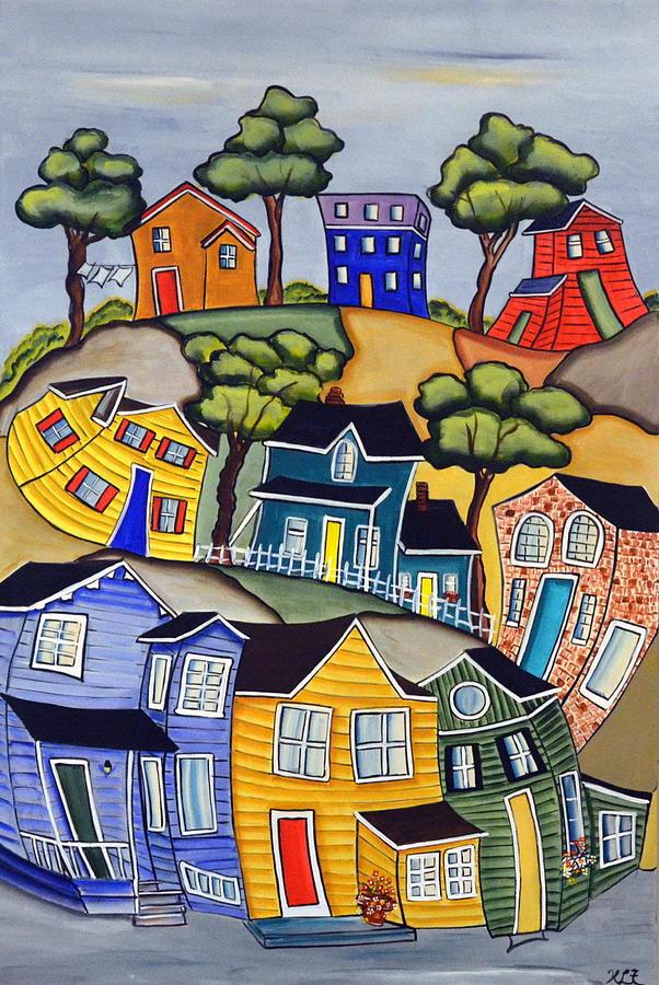 Village Life 1 by Heather Lovat-Fraser