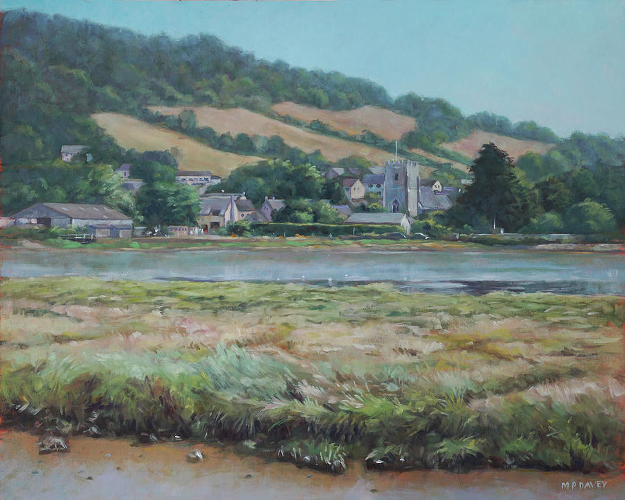 Village of Axmouth on the river Axe by Martin Davey