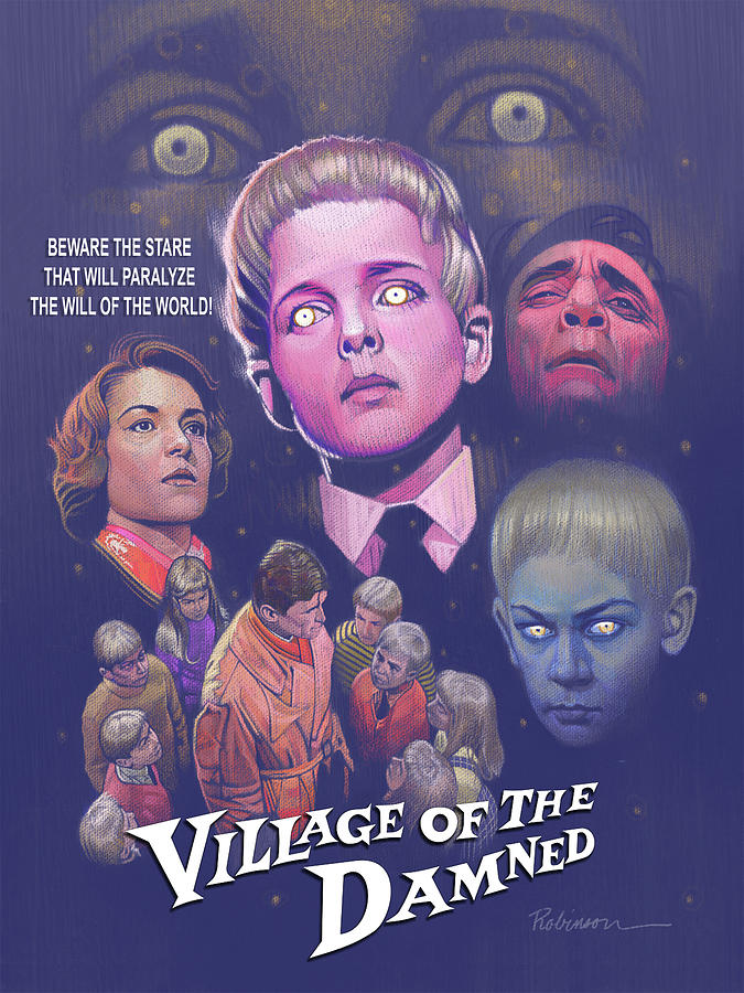 Hammer Horror Pastel - Village of the Damned by D Robinson