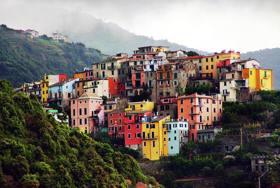 Villages On The Cliff, Cinque Terre Photograph by Totororo