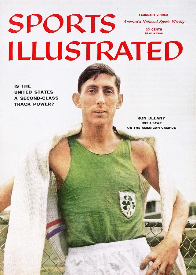 Villanova Ron Delaney, Track & Field Sports Illustrated Cover Photograph by Sports Illustrated