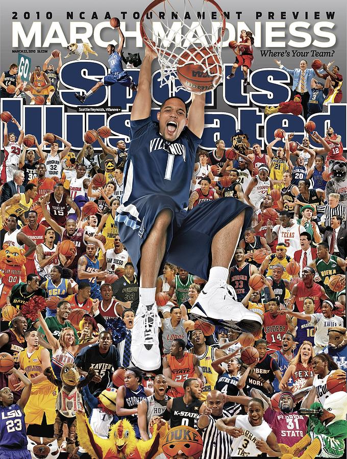 Villanova University Scottie Reynolds, 2010 March Madness Sports Illustrated Cover Photograph by Sports Illustrated