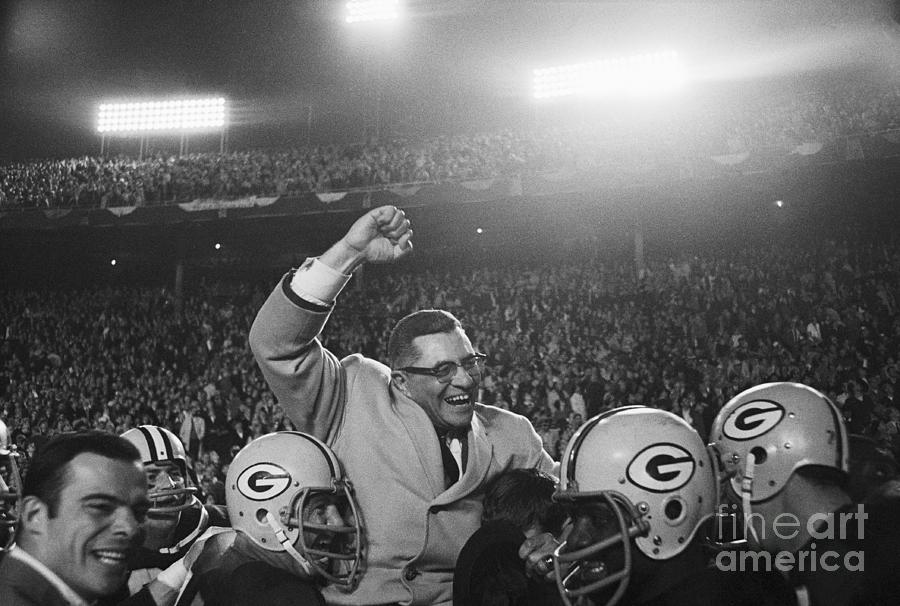 Vince Lombardi Being Carried Photograph by Bettmann
