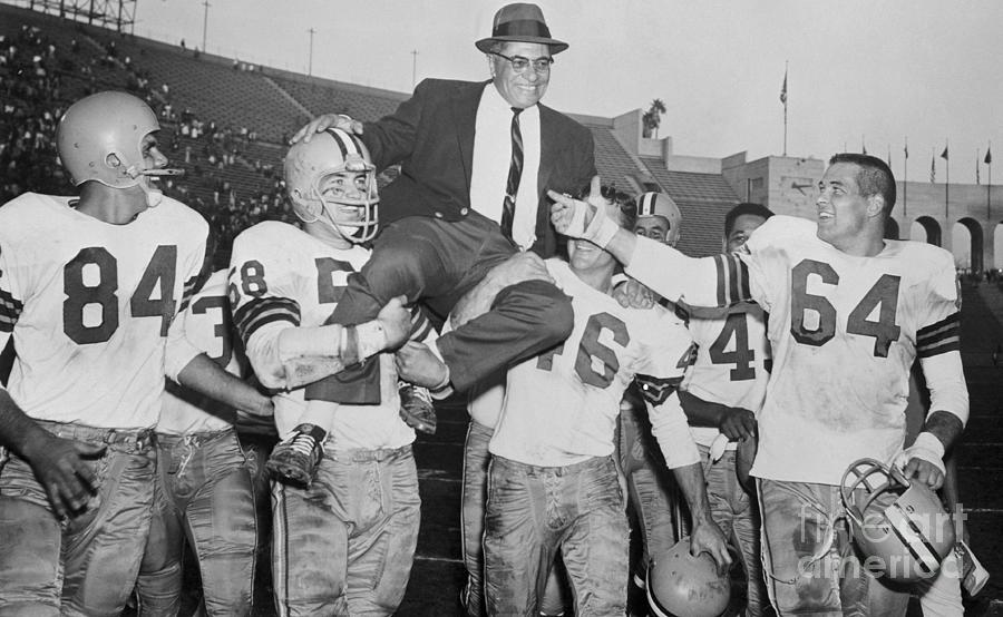 Vince Lombardi Receiving Victory Ride Photograph by Bettmann