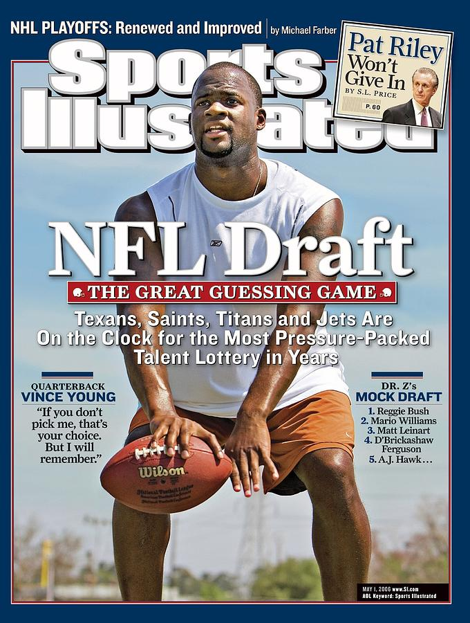 Vince Young, Nfl Qb Prospect Sports Illustrated Cover Photograph by Sports Illustrated