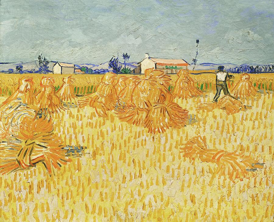 Vincent Van Gogh Painting - VINCENT VAN GOGH Harvest in Provence. Date/Period 1888. Painting. Oil on canvas Oil on canvas. by Vincent Van Gogh