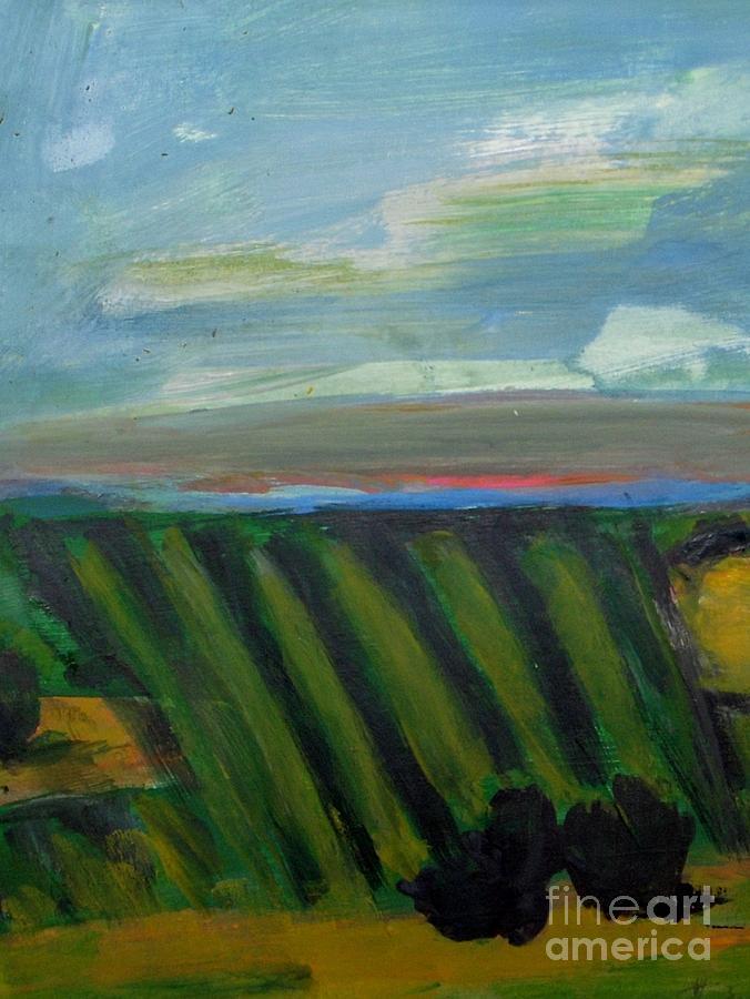 Vine Yard Painting - Vine Yard  by Vesna Antic