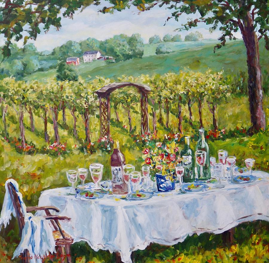Vineyard Dining by Ingrid Dohm