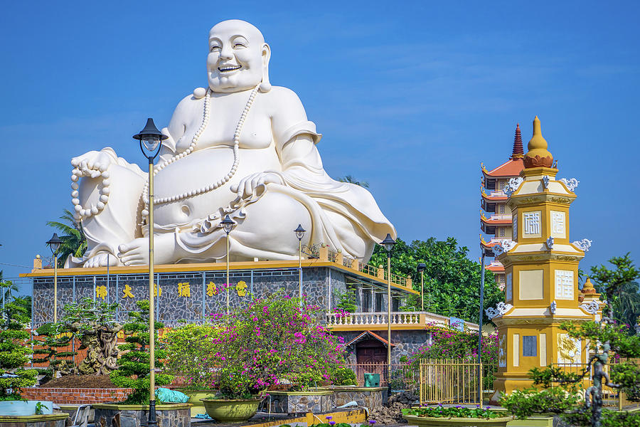Vinh Trang Temple Buddha by Gary Gillette