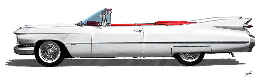 Vintage 1962 Cadillac Cabriolet - DWP4202303 by Dean Wittle