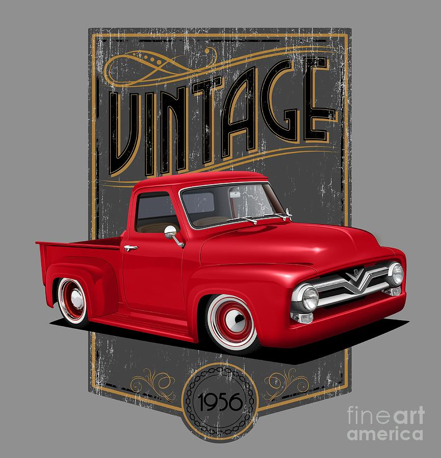 1956 Digital Art - Vintage 56 by Paul Kuras