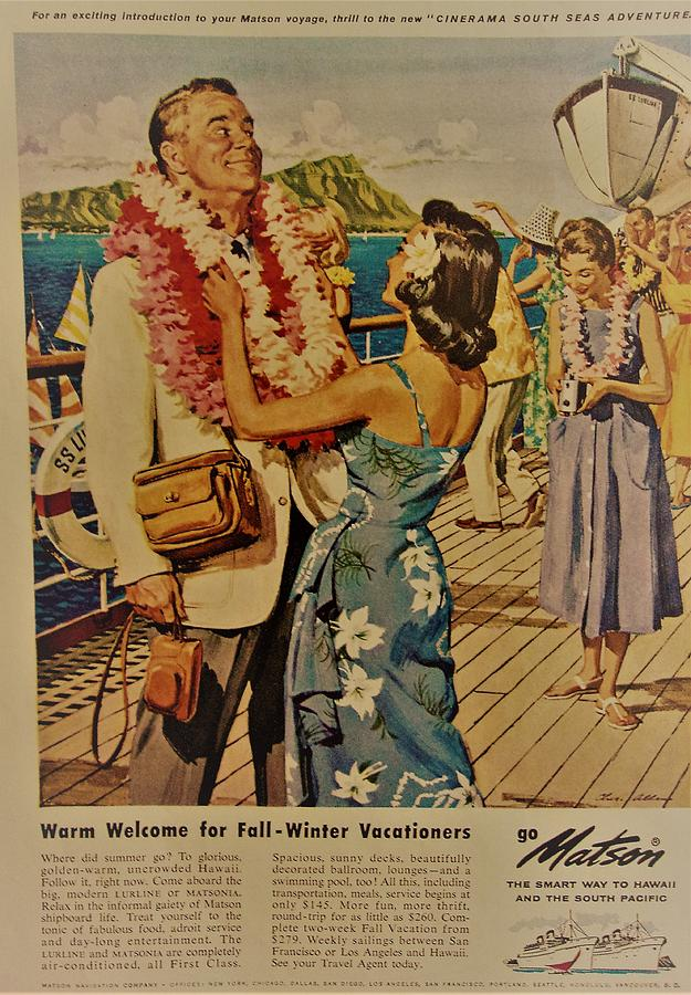 1938 Hawaii Life Is Spelled With Capitals Vintage Print Ad