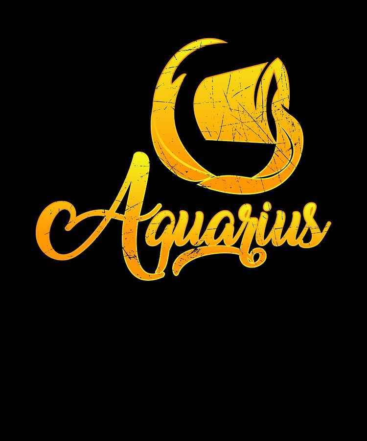 Vintage Aquarius Zodiac Sign Retro Horoscope Birthday Gift Idea