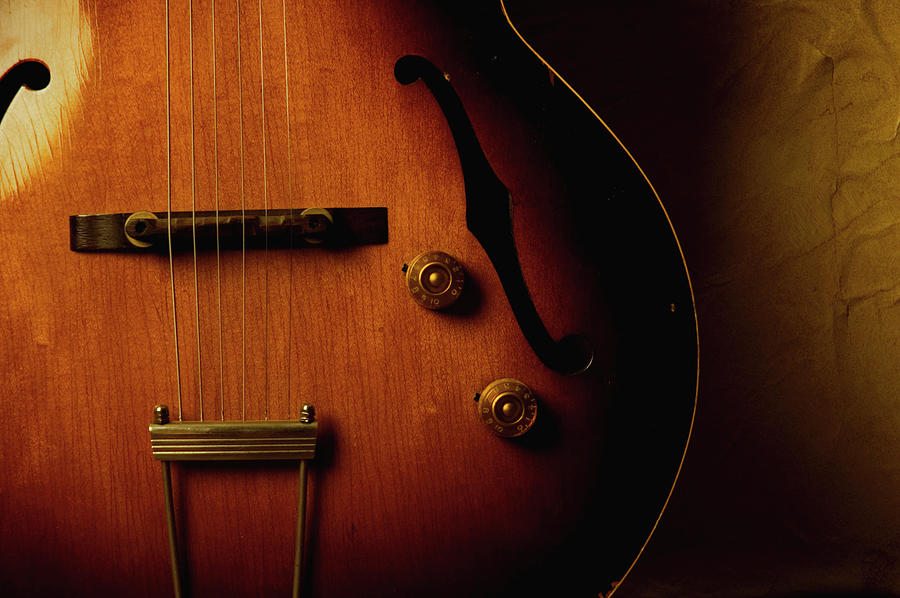 Vintage Archtop Guitar Photograph by Bns124