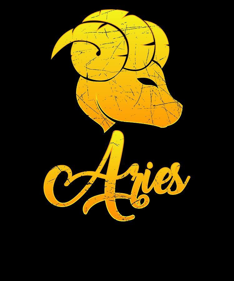 Vintage Aries Zodiac Sign Retro Horoscope Birthday Gift Idea
