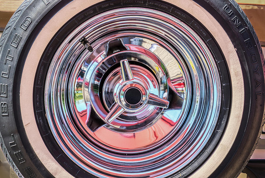 Vintage Automobile Wheel Abstract by Gary Slawsky