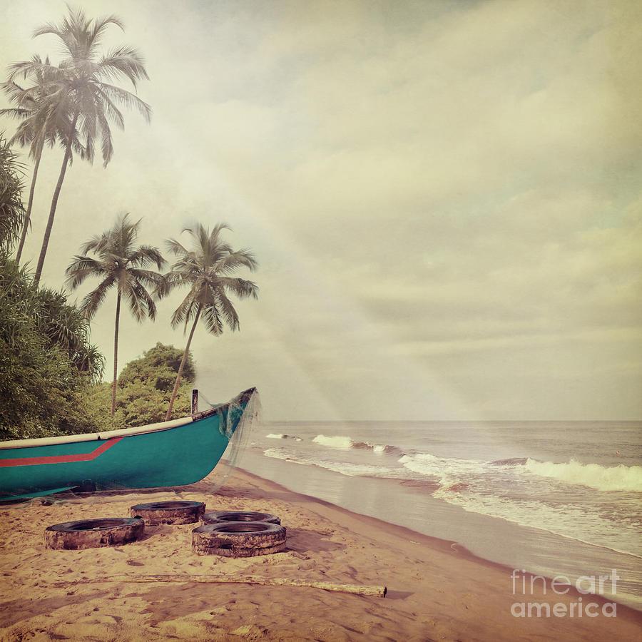 Beam Photograph - Vintage Beach Background by Sundari