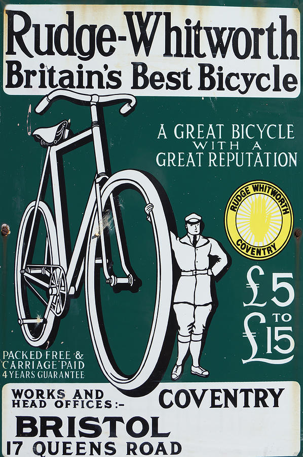Vintage Bicycle Advert by David Birchall