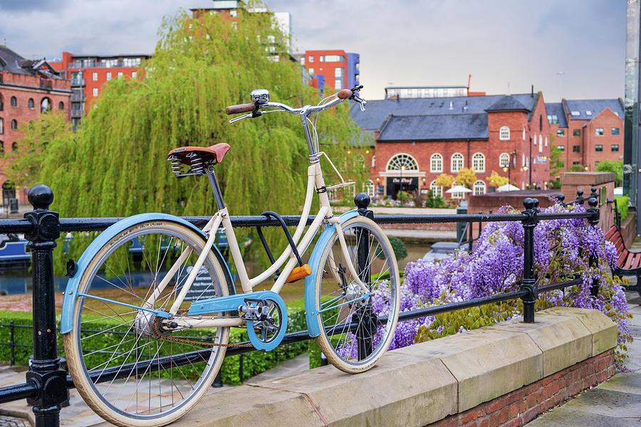 Vintage bicycle in restored Victorian are by IORDANIS PALLIKARAS