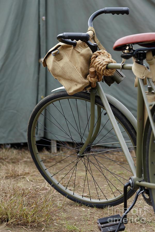 Bike Photograph - Vintage Bicycle World War II  by Edward Fielding