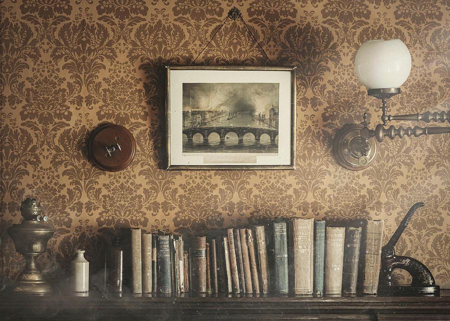 Vintage Bookshelf by Dave Bowman