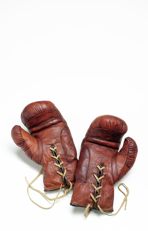 Vintage Boxing Gloves Photograph by Peter Dazeley