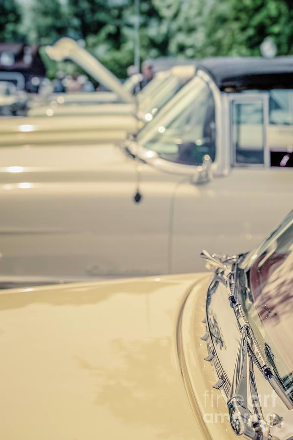Cadillac Photograph - Vintage Cadillac Cars by Edward Fielding