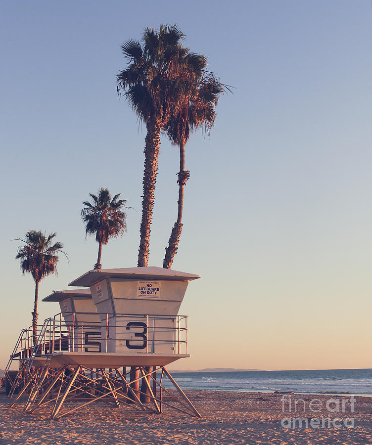 Instagram Photograph - Vintage California Life Guard Station - by Dcornelius