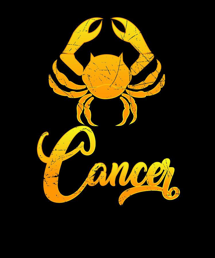 Vintage Cancer Zodiac Sign Graphic Retro Horoscope Birthday Gift