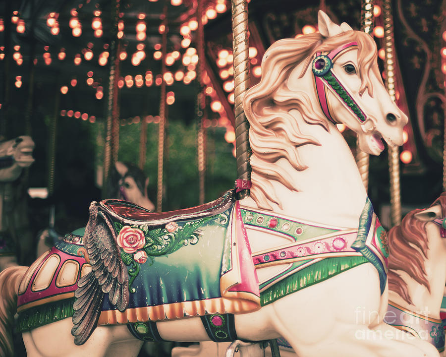 Birthday Photograph - Vintage Carousel Horse by Andrekart Photography